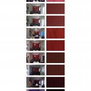 Looking at the color of red using different lightnings